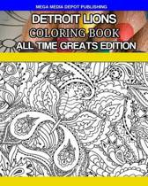 Detroit Lions Coloring Book All Time Greats Edition