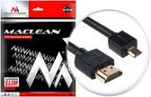 HDMI-microHDMI ULTRA SLIM v1.4 2 m kabel Maclean MCTV-722