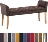 Clp Cleopatra - Chaise longue - Stof - bruin antiek donker