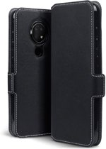 Nokia 7.2 Bookcase hoesje - CaseBoutique - Effen Zwart - Kunstleer