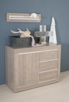 Bebies First- Babykamer Colorado - Commode - Grijs - Wit