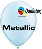 Ballonnen Metallic Lichtblauw 30 cm 100 stuks