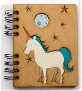 Houten notitieboek - A5 – Gelinieerd – Unicorn