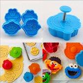 koekvormpjes, uitstekers Sesamstraat, Elmo, Koekiemonster, Bert en Ernie