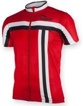 Rogelli Jersey SS Brescia - Wielershirt - Korte Mouw - Maat S - Rood;Wit;Zwart