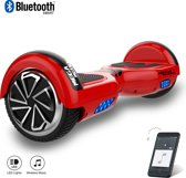 Hoverboard / Elektrische Scooter Zelfbalansering / Segway / LED Verlichting + Bluetooth , 6.5-inch ,Rood