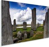 De oude staande stenen van de Schotse Calanais Standing Stones Plexiglas 90x60 cm - Foto print op Glas (Plexiglas wanddecoratie)