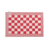 Placemat Grote blok Ecru-Rood
