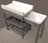 Quax Verzorgingstafel met badje en vast waskussen
