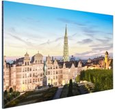 Brussel skyline in schemering Aluminium 120x80 cm - Foto print op Aluminium (metaal wanddecoratie)