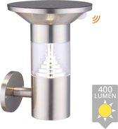 Solar wandlamp Luzern RVS met sensor