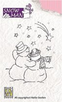 Clearstamp - Snowmen - Falling Star - SNM004