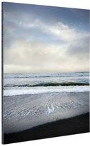 Strand Californie Amerika Aluminium 80x120 cm - Foto print op Aluminium (metaal wanddecoratie)