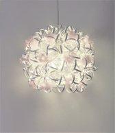 Funnylight Vrolijk zilver - design hanglamp met witte bloemen
