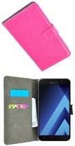 Samsung Galaxy A3 2017 Hoesje P Wallet Bookcase Roze