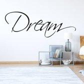 Muursticker Dream -  Lichtbruin -  160 x 58 cm  - Muursticker4Sale