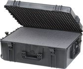 Gaffergear camera koffer 062 zwart   -  incl. plukschuim    -  52,80   x 27,60  x 27,60  cm (BxDxH)