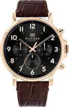 Tommy Hilfiger TH1710379 Horloge - Leer - Bruin - Ø 44 mm