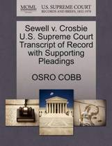 Sewell V. Crosbie U.S. Supreme Court Transcript of Record with Supporting Pleadings