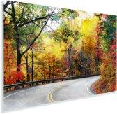 De Blue Ridge Parkway in North Carolina tijdens de herfst Plexiglas 120x80 cm - Foto print op Glas (Plexiglas wanddecoratie)
