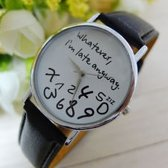 Gofuly New Style Whatever-I-m-late-anyway horloge zwart/witte achtergrond