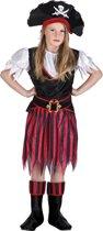 4 stuks: Piraat Annie Tienerkostuum - 10-12 jaar
