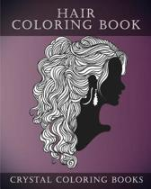 Hair Coloring Book for Adults