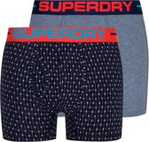 Superdry Onderbroek - Maat M  - Mannen - navy/ blauw/ rood