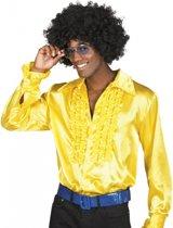 Voordelige gele rouche blouse M