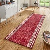 Design loper Casa - rood 80x400 cm