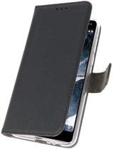 Wallet Cases Hoesje Nokia 5.1 Zwart