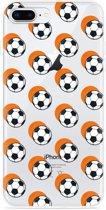 iPhone 8 Plus Hoesje Soccer Ball Orange Shadow