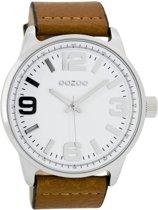 OOZOO Timepieces horloge Cognac/Wit C7091