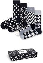 Happy Socks Black & White Abstract Giftbox - Maat 36-40
