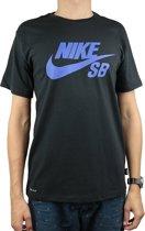 Nike SB Logo Tee 821946-019, Mannen, Zwart, T-shirt maat: M EU