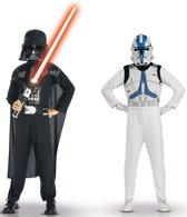 Darth Vader en Clone trooper Star Wars� pak voor kinderen - Verkleedkleding - 116/128