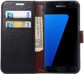 Samsung Galaxy S7 Bookcase Hoesje Met Pasjes Zwart