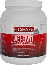 Fitshape Wei Eiwit Aardbei - 1000 gram - Eiwitshake - Sportvoeding