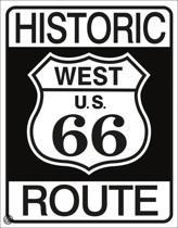 Signs-USA Historic Route 66 - Retro Wandbord - Metaal - 40x30 cm