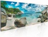 Schilderij - Turquoise Paradijs