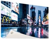 Times Square na de regen Tuinposter 200x100 cm - Tuindoek / Buitencanvas / Schilderijen voor buiten (tuin decoratie) XXL / Groot formaat!