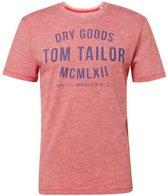 Tom Tailor - Heren T-Shirt - Ronde Hals - Koraal