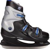 Nijdam 0099 IJshockeyschaats XXL - Hardboot - Maat 50 - Zwart/Blauw