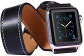 Kakapi Kunstleren bandje - Apple Watch Series 1/2/3/4 (42&44mm) - Zwart