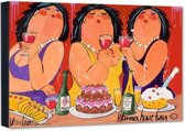 Wanna have Fun – 50x40 cm – Dikke Dames – El van Leersum – PixaPrint – AB1002-2