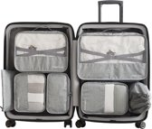 Luxe Packing Cubes set - Uitgebreide 7 delige set - Kleding organizer voor koffer en backpack - Bagage Organizers voor Kleding - Ondergoed - Schoenen - Elektronica - Waszak - Grijs