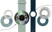 Deja Vu Premium horlogeset groen/blauw met zwart uurwerk