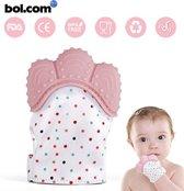 Bijtspeelgoed| Baby bijtring | Baby speelgoed 0 tot 2 jaar | Knisper speelgoed | Bij doorkomende tandjes | Tandvlees pijn |Kraamcadeau | Zwangerschap | Roze