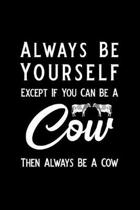 Always Be Yourself Except If You Can Be a Cow Then Always Be a Cow