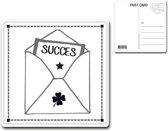 Metalen kaart 15x15cm Succes - 107142122016